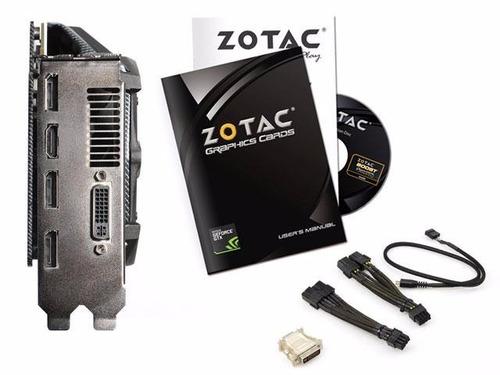 placa de vídeo zotac gtx980 4gb amp! extreme edition + nfe