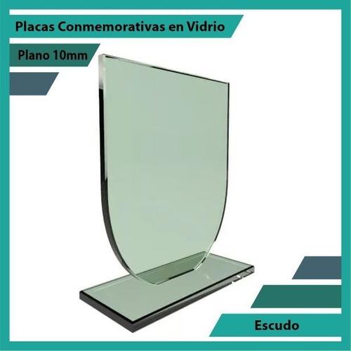 placa de vidrio referencia escudo pulido plano 10mm