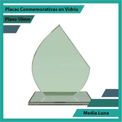 placa de vidrio referencia media luna pulido plano 10mm