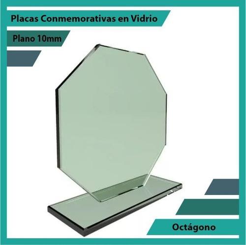 placa de vidrio referencia octágono pulido plano 10mm
