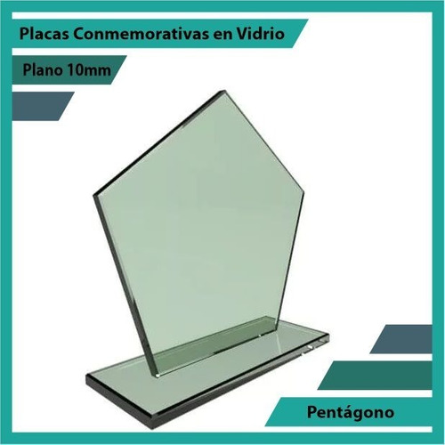 placa de vidrio referencia pentágono pulido plano 10mm