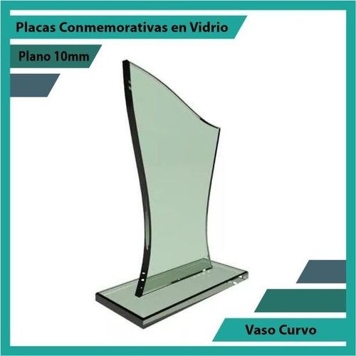 placa de vidrio referencia vaso curvo pulido plano 10mm