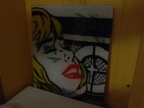 placa de vitrofusion arte pop, roy lichtenstein