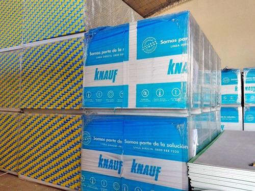 placa de yeso knauf 12,5 mm 1,20x2,00 mts igual durlock