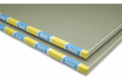 placa de yeso knauf =durlock resistente a humedad rh 12,5 mm
