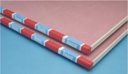 placa de yeso knauf ignifuga roja cortafuego 12,5mm =durlock