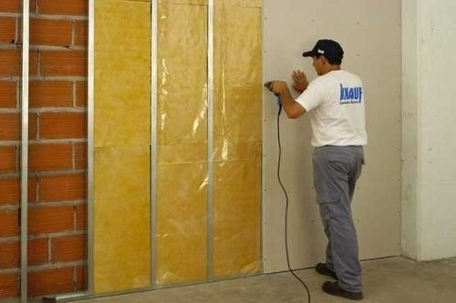 Placa de yeso knauf std 12 5 mm 1 20 x 2 40 simil durlock - Aislante humedad paredes ...