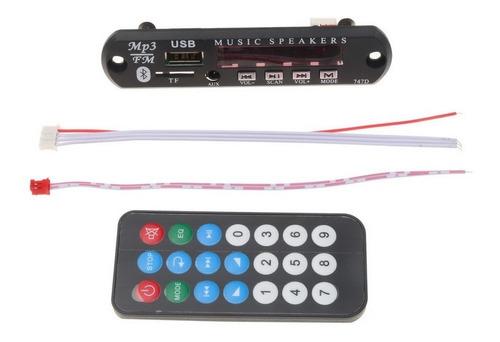 placa decodificador led usb mp3 fm bluetooth 5-12v