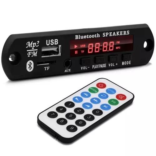 placa decodificador usb p/ caixa ativa mp3 fm aux bluetooth