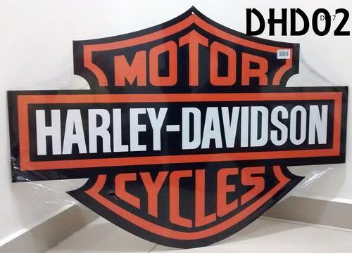 placa decorar garagem harley davidson logo marca moto