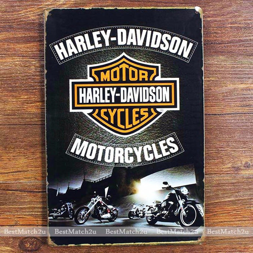 placa decorativa bar garagem motocicleta harley davidson hd