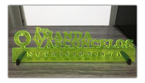 placa decorativa c nome e símbolo profissões enfeite de mesa