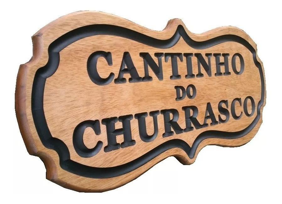 Placa Decorativa de Madeira