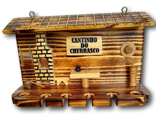placa decorativa cantinho do churrasco modelo casa ref. 0138