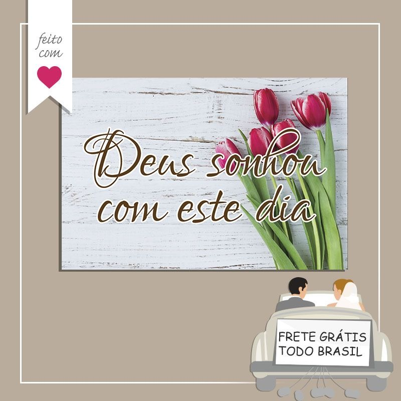 Placa Decorativa Casamento Frases Ps 1mm 20x30 R 3259 Em Mercado