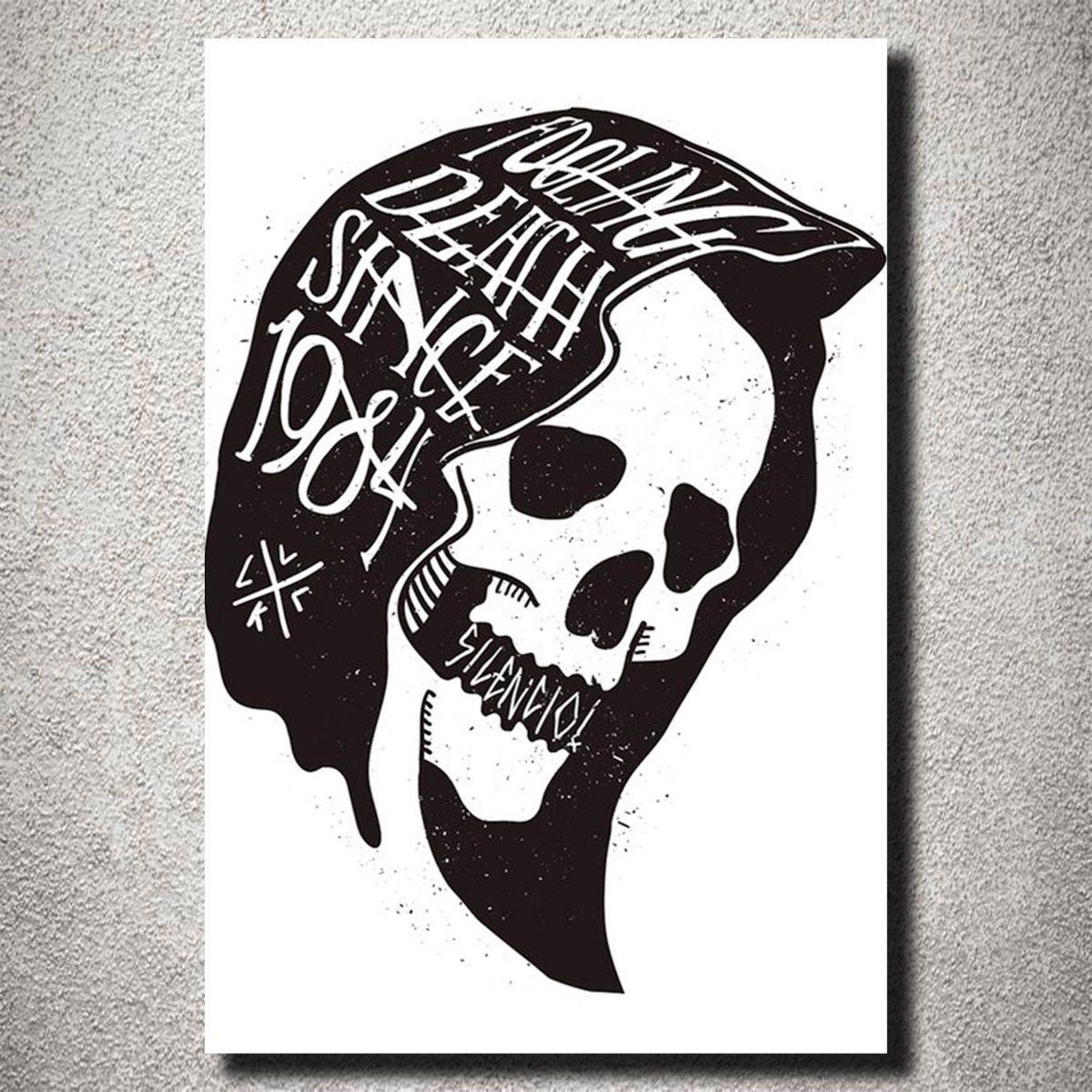 Placa Decorativa Caveira Morte Frase Desenho Arte Mdf R 2590 Em