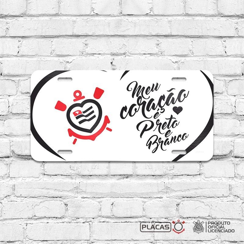 Placa Decorativa Corinthians Meu Coração É Preto E Branco - R  35 8951ff852ddf0
