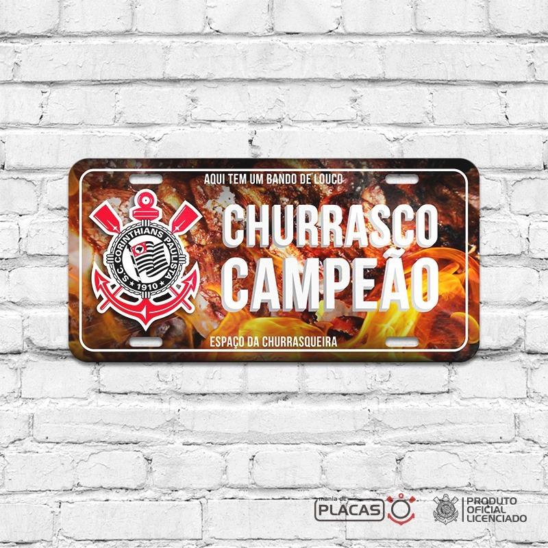 Placa Decorativa Corinthians Churrasco - R  35 ee5c9455fc176