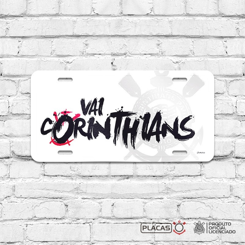 Placa Decorativa Corinthians Vai Corinthians - R  35 85488f4e49a56