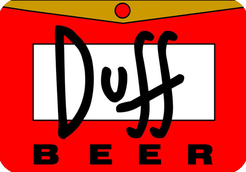 placa decorativa duff