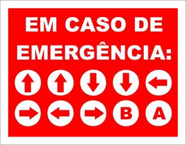 placa decorativa em caso de emergência konami code rcr games