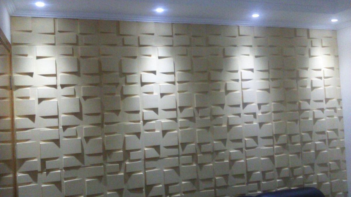 Placa decorativa em gesso 3d r 3 49 em mercado livre - Placas decorativas para pared interior ...