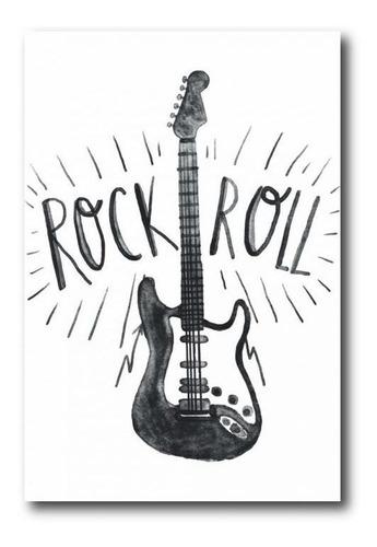 placa decorativa em mdf rock n roll 20x30cm