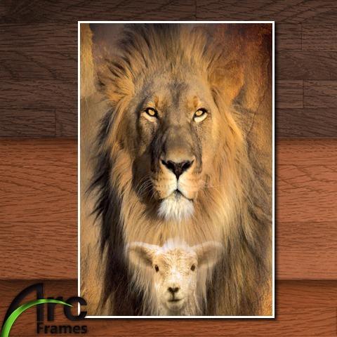 Placa Decorativa Evangelico Cristo Leao Tribo Juda Cordeiro R