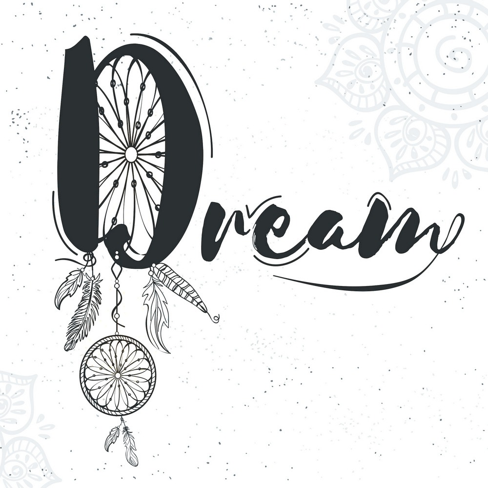 Placa Decorativa Filtro Dos Sonhos Frase Dream 40x40 R 26