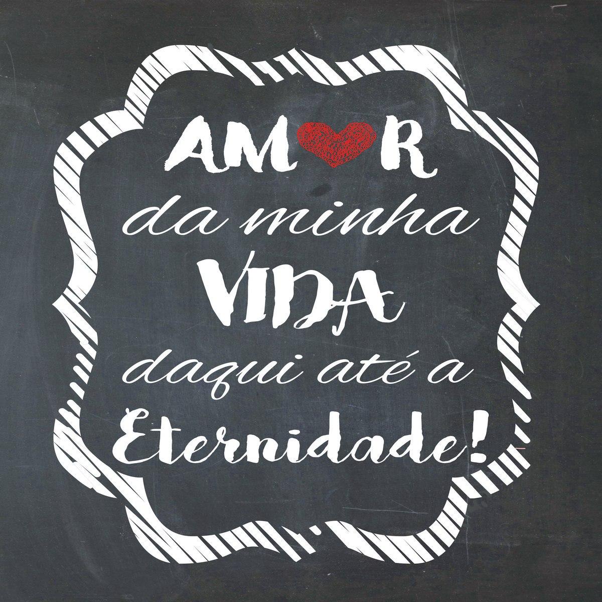 Placa Decorativa Frase Amor Da Minha Vida Daqui Até R 9
