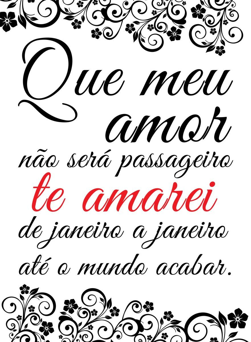 Placa Decorativa Frase Que Meu Amor Não Será Passageiro R 7