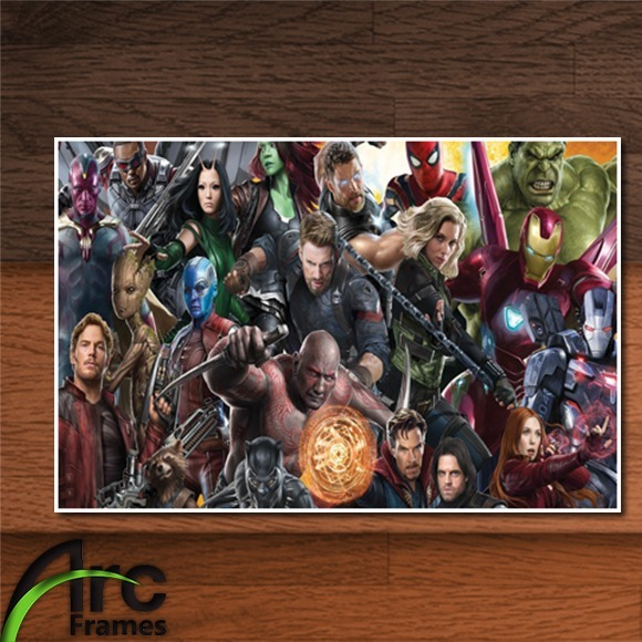 Placa Decorativa Mdf Avengers Infinity