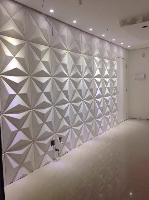 Placa decorativa mosaico gesso 3d diamante r 32 15 em for Mosaico adesivo 3d