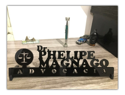 placa decorativa nome profissões enfeite de mesa advocacia