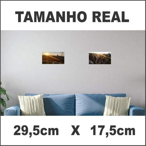 placa decorativa pequena 29,5cm x 17,5cm lavoura café 003