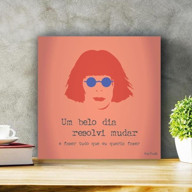 Placa Decorativa Rita Lee Um Belo Dia P R 9990 Em Mercado Livre