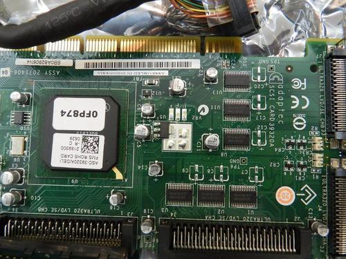 placa dell raid adaptec asc-39320a ultra320 + cabo