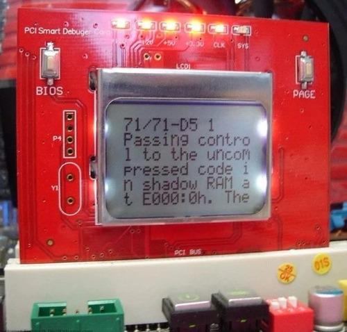 placa diagnostico pc analyzer com visor lcd debug computador