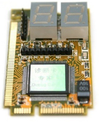 placa diagnostico pc analyzer mini pci / pci-e lpc notebook