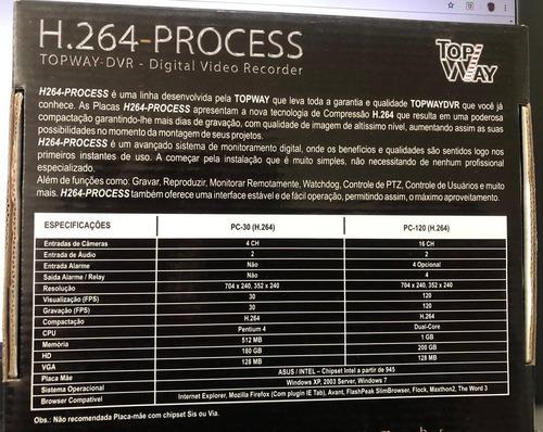 placa digital vídeo recorder h.264 process dvr - top way