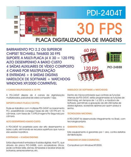 placa digitalizadora de imagens pdi-2404t 30 fps