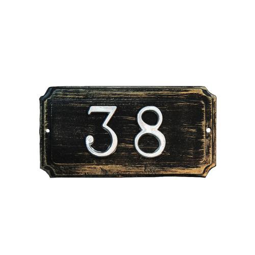 placa dirección rectangular + 4 números aluminio (vk0229)