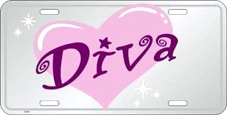 placa diva decorativa rosada chicas portaplaca toyota ford
