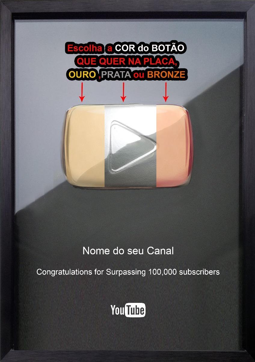 Placa Do Youtube = Original, A Única Com Botão Original
