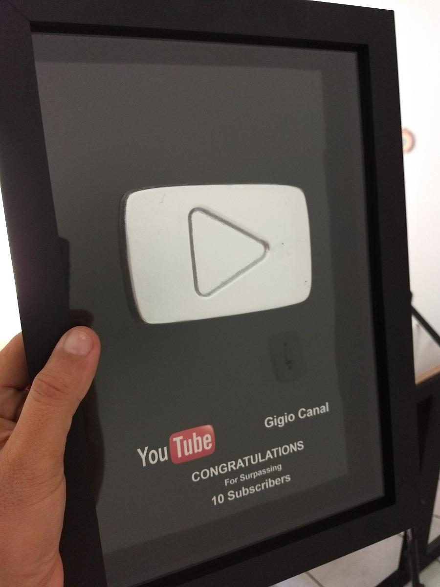 Placa Do Youtube Para Youtubers Botão De Verdade