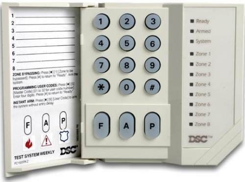 placa dsc 585 + teclado pk 1555
