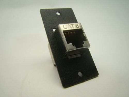 placa  dupla fêmea rj45 cat6 blindado painel / mesa