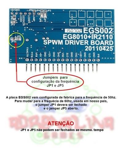 placa egs002 módulo de driver inversor de onda senoidal pura
