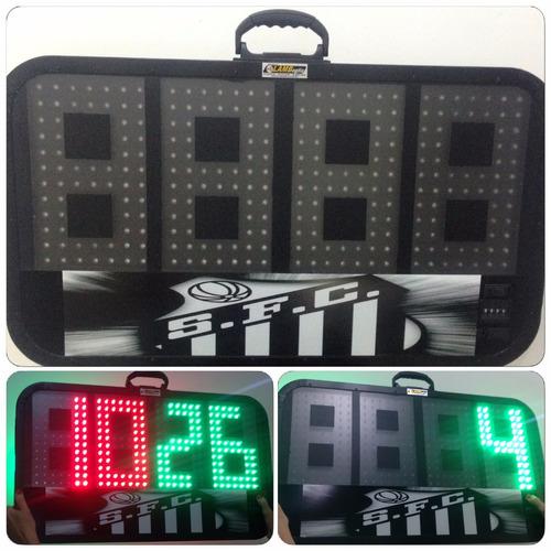 placa eletrônica de substituição arbitro futebol 1 face 7040