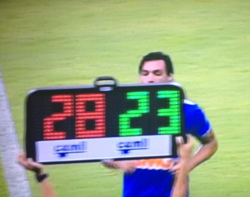 placa eletrônica de substituição arbitro futebol 2 face 7040